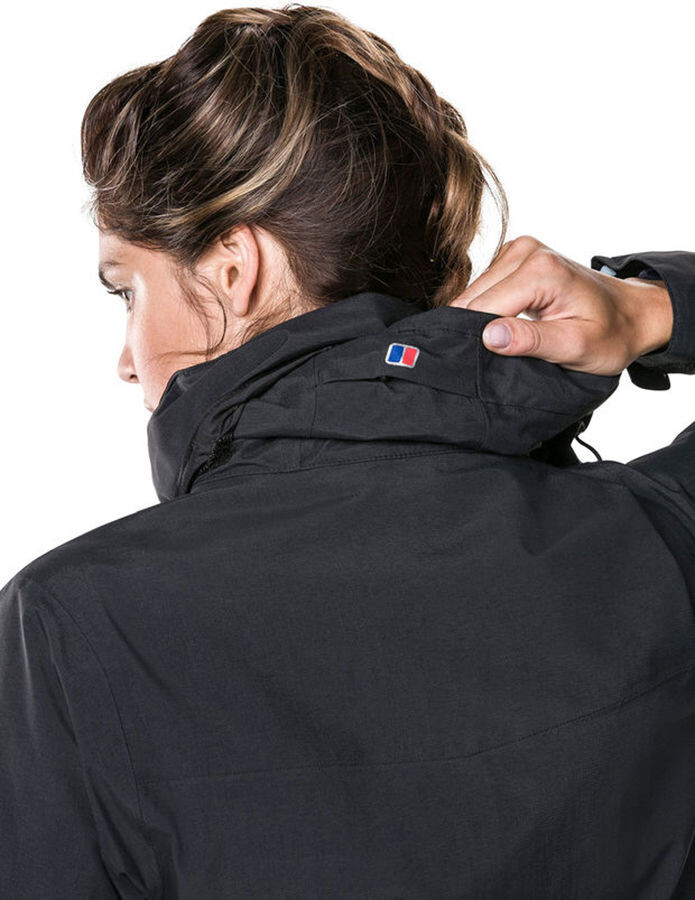 Berghaus Hillwalker Long Shell Jacket Damen blackblack
